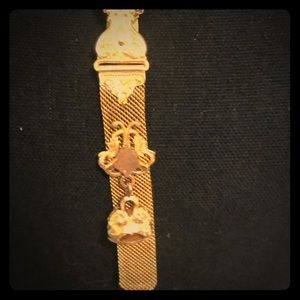Vintage one of a kind watch chain fob necklace